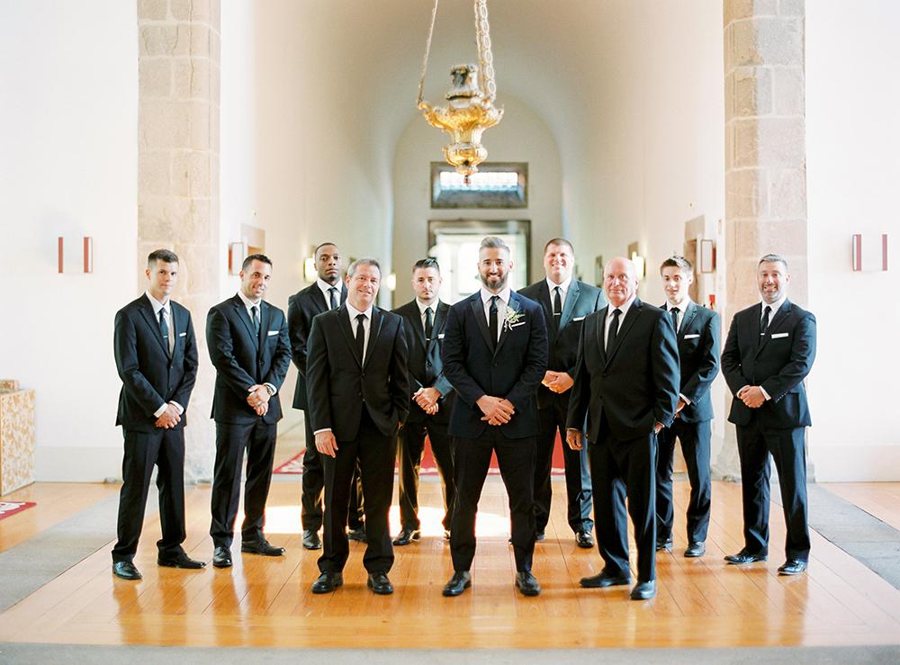 groom and groomsmen in portugal