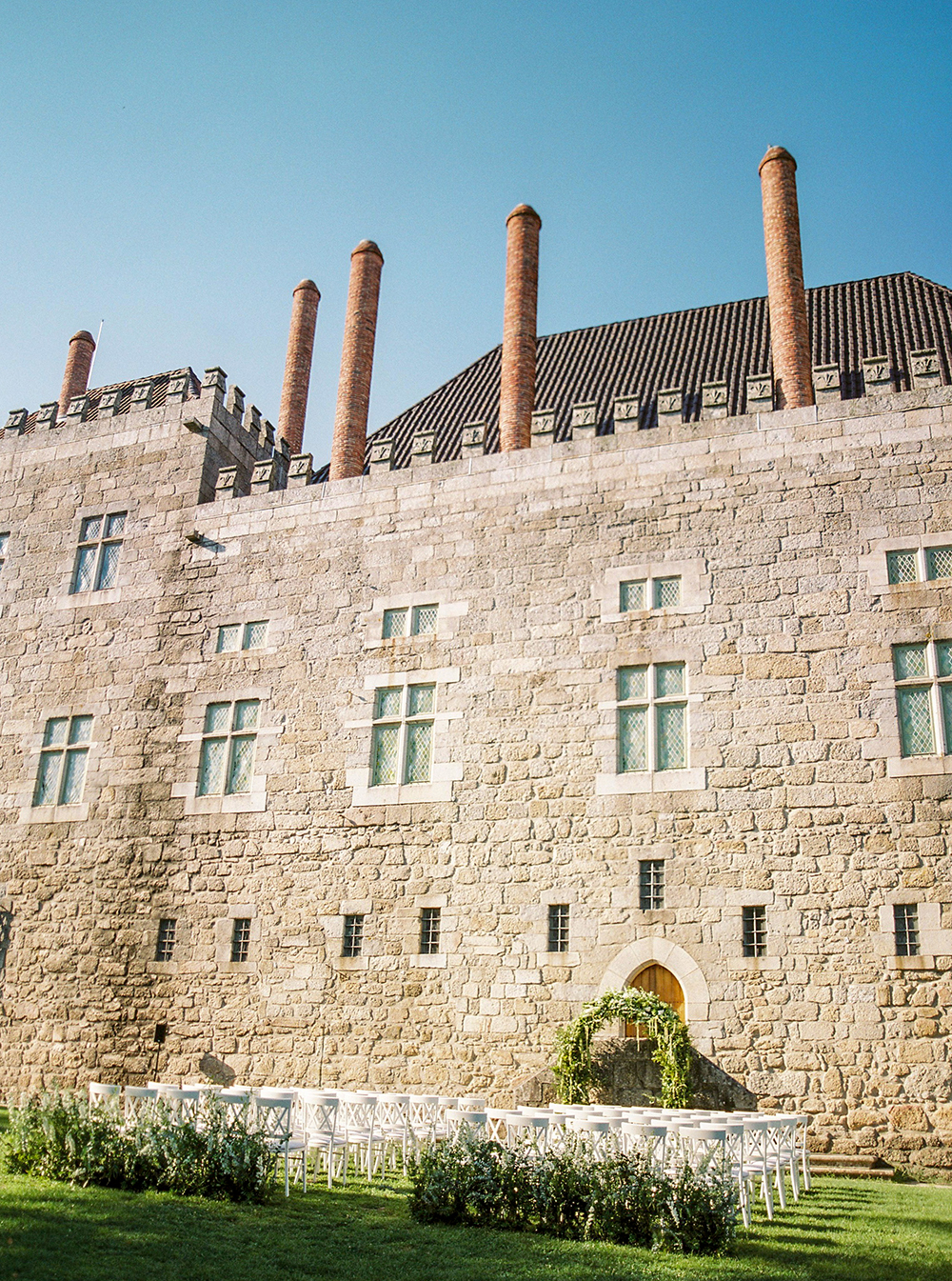 beautiful castel from a wedding in portugal