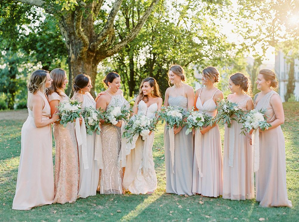 bridesmaids on a destination wedding in portugal