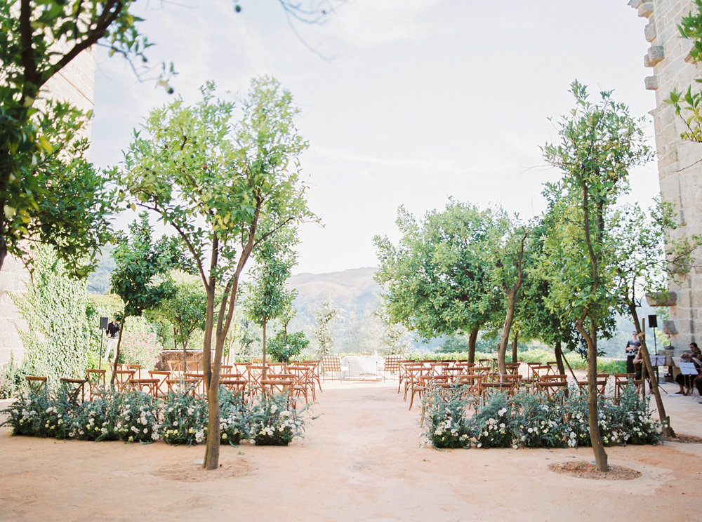 Ceremony area on an old monastery in Portugal