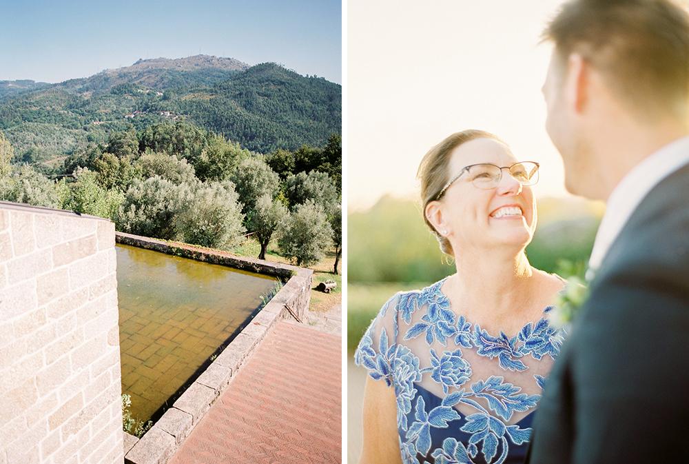 Family photos on a destination wedding