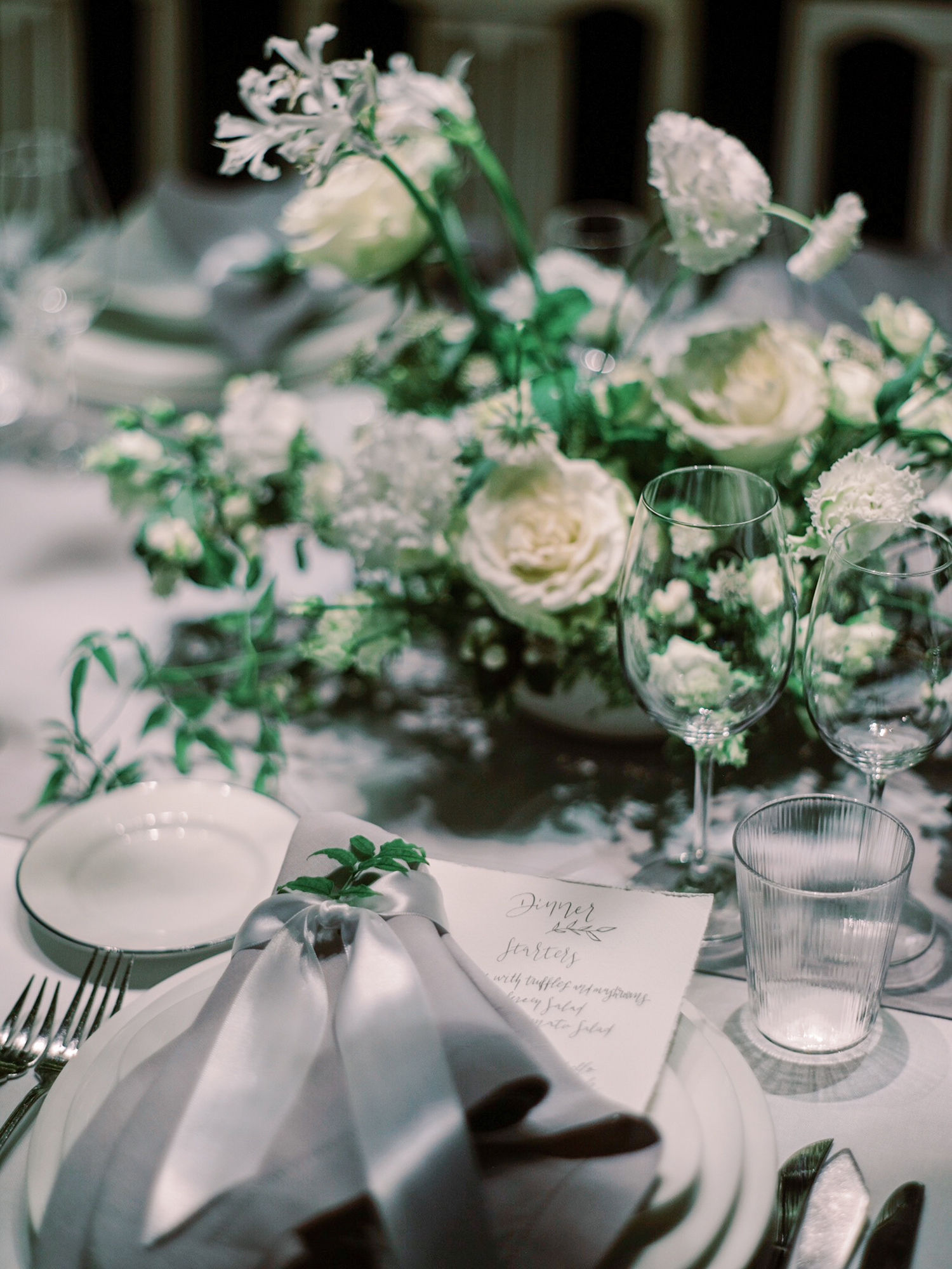 Table setting on a wedding at Douro Valley