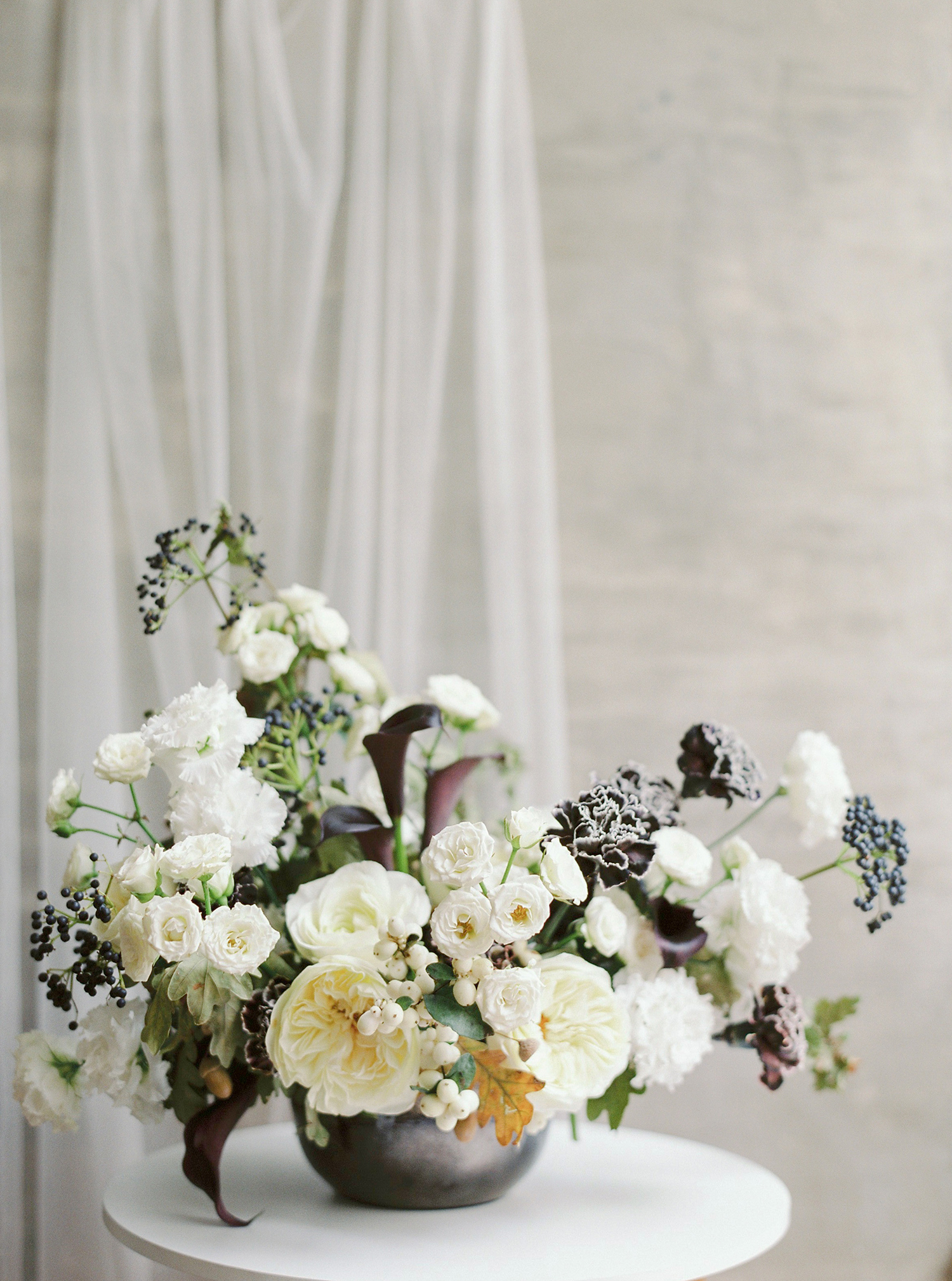 Elopement flower centerpiece