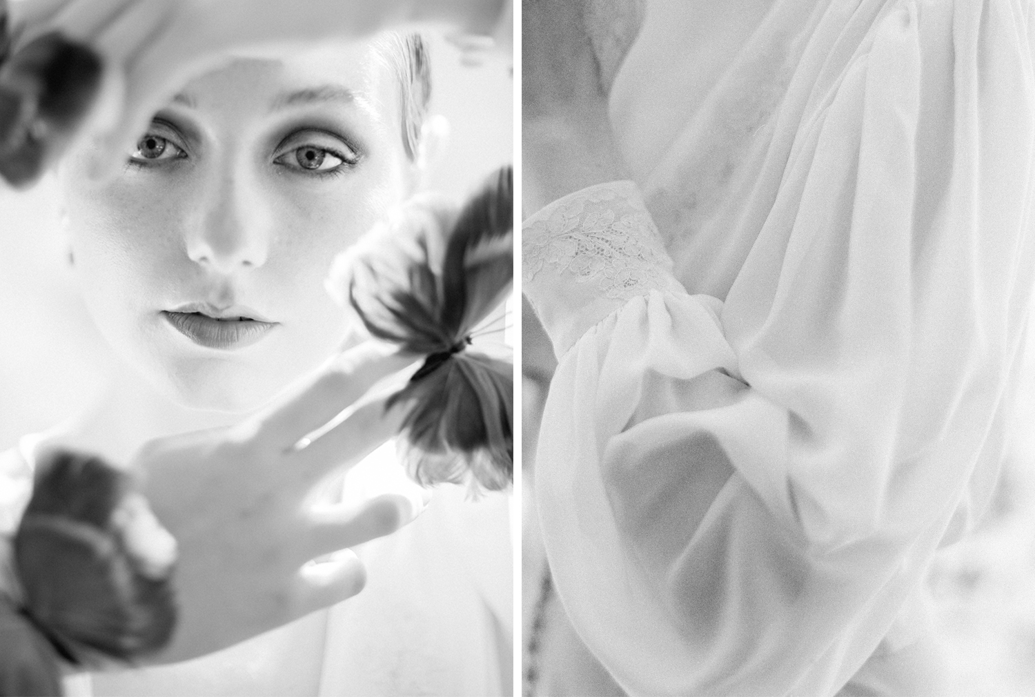 Black and white wedding portraits inspiration