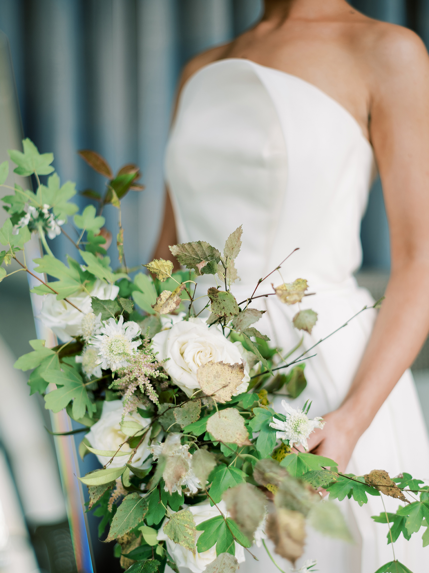 Bridal bouquet inspiration at Something Blue workshop, creative direction and styling by Brancoprata