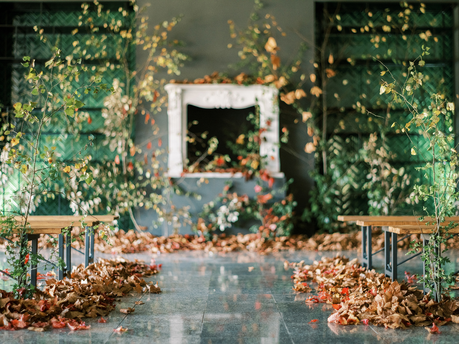 Fall wedding ideas at Something Blue workshop with creative direction and styling by Brancoprata