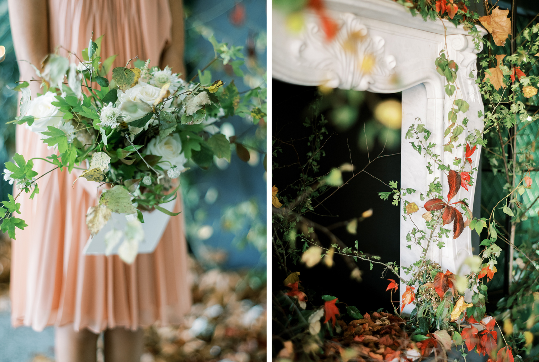 Fall wedding ceremony details at Something Blue workshop