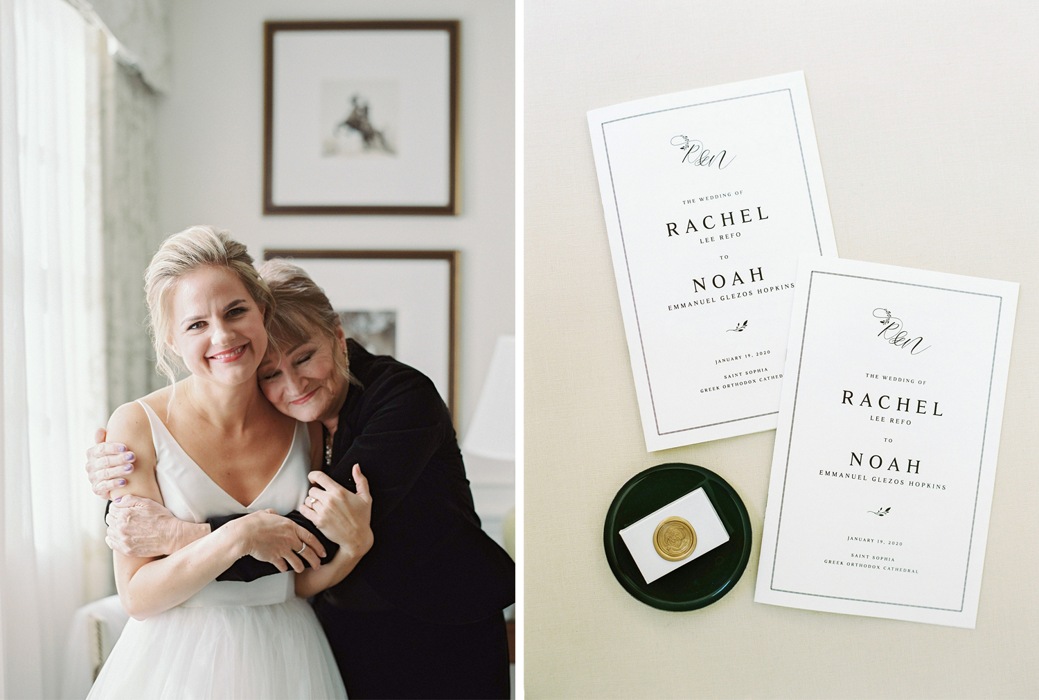 Bride and mother portraits