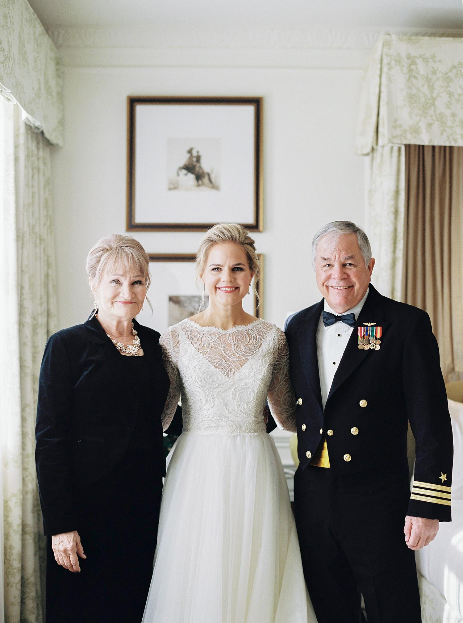 Bridal family portraits