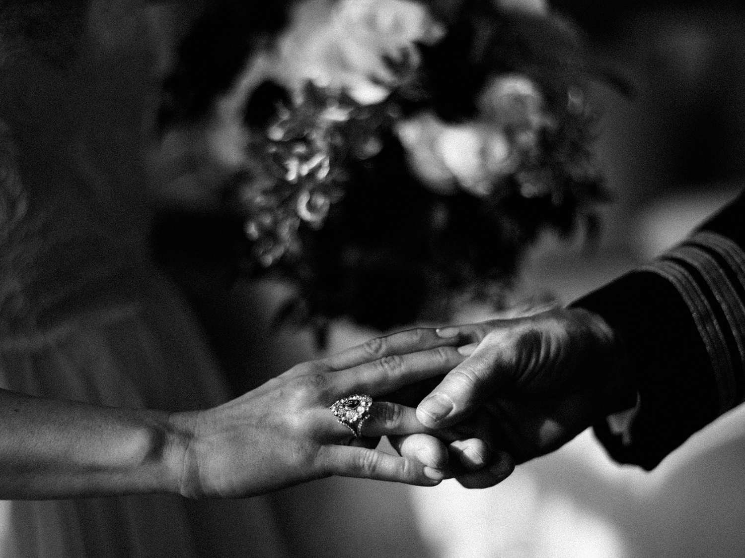 Family heirlooms on the wedding day