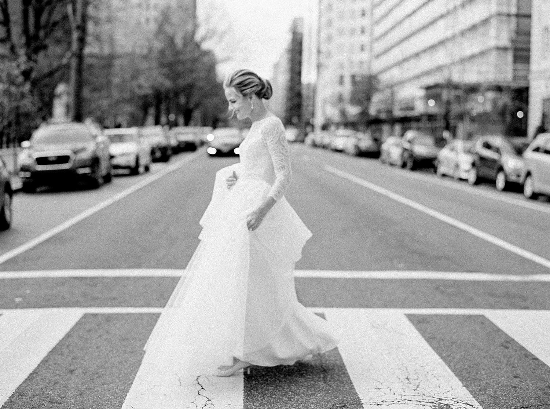 Winter city wedding in the heart of Washington DC