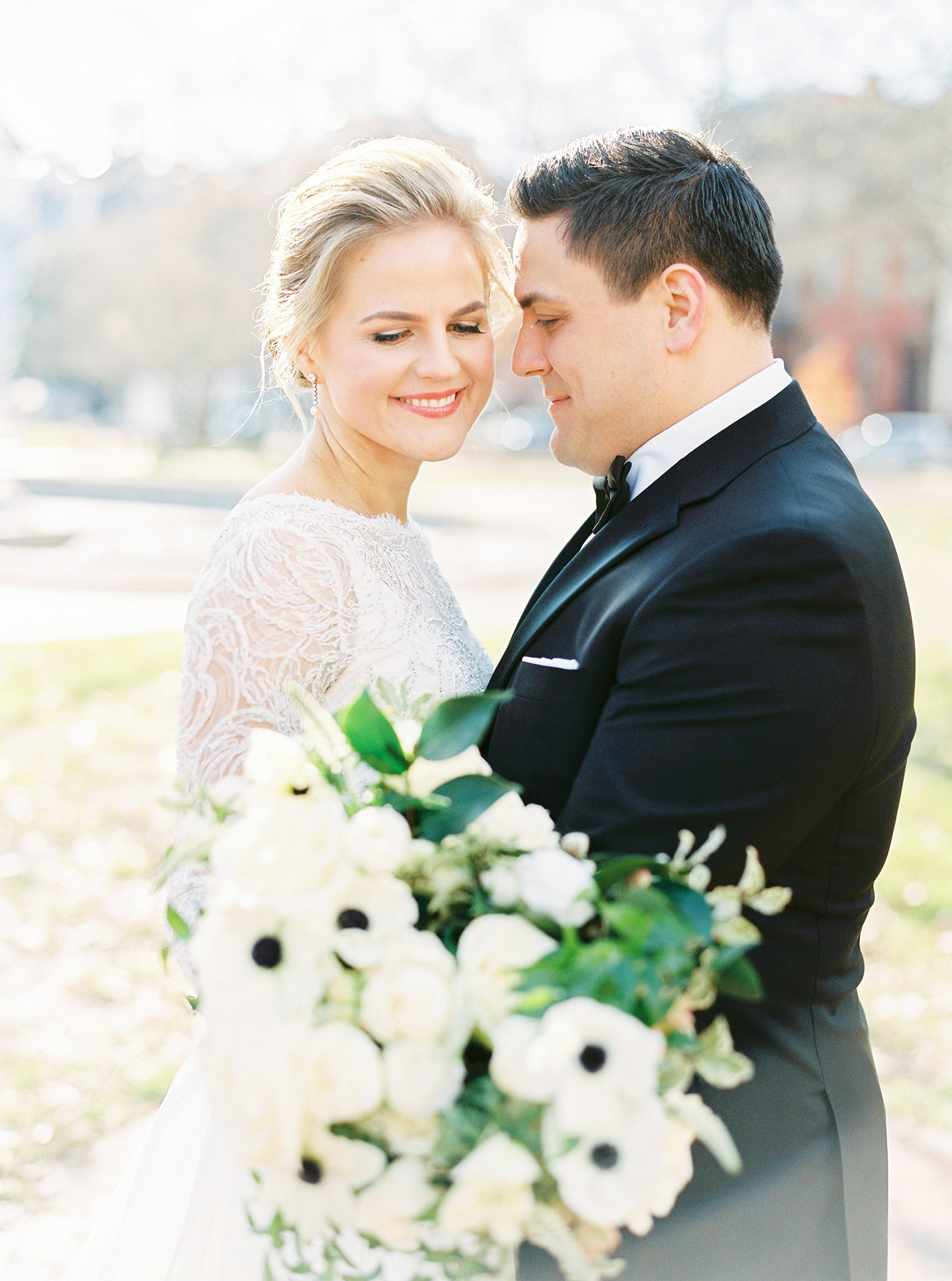 Wedding portraits on this Winter city wedding in the heart of Washington DC