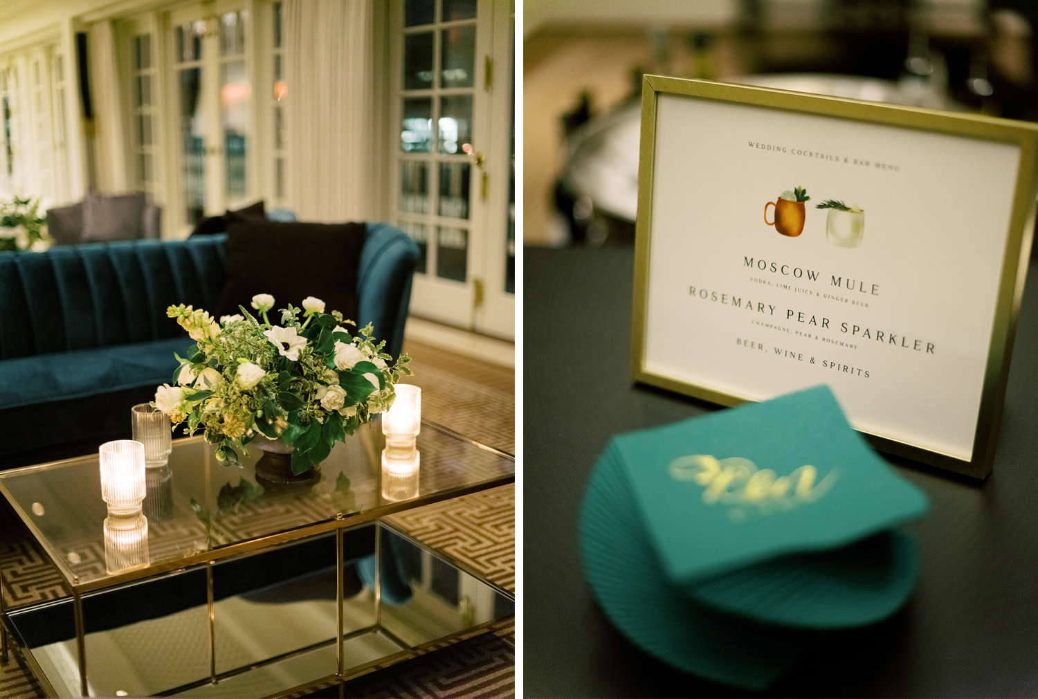 Details of the lounge area at the rooftop of the Hay Adams Hotel