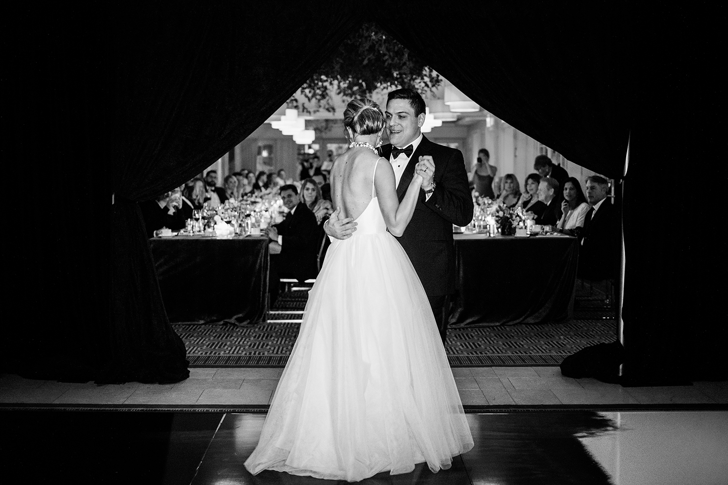 First dance at the rooftop of the Hay Adams Hotel in Washington DC