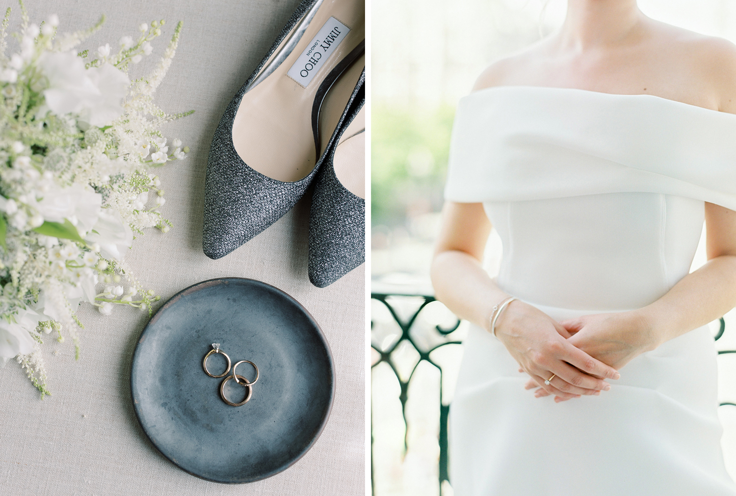 Wedding details and bridal jewelry