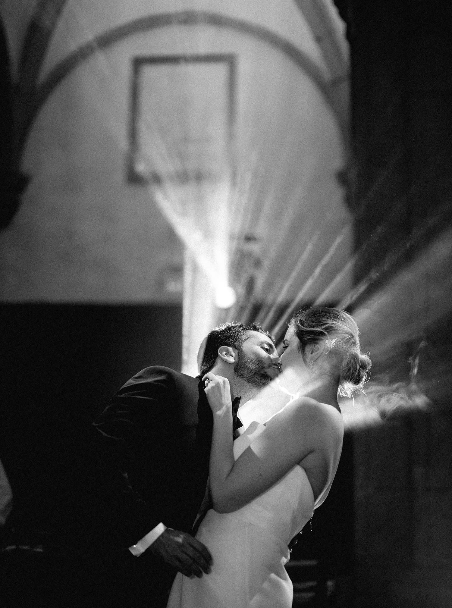 first wedding dance and a kiss