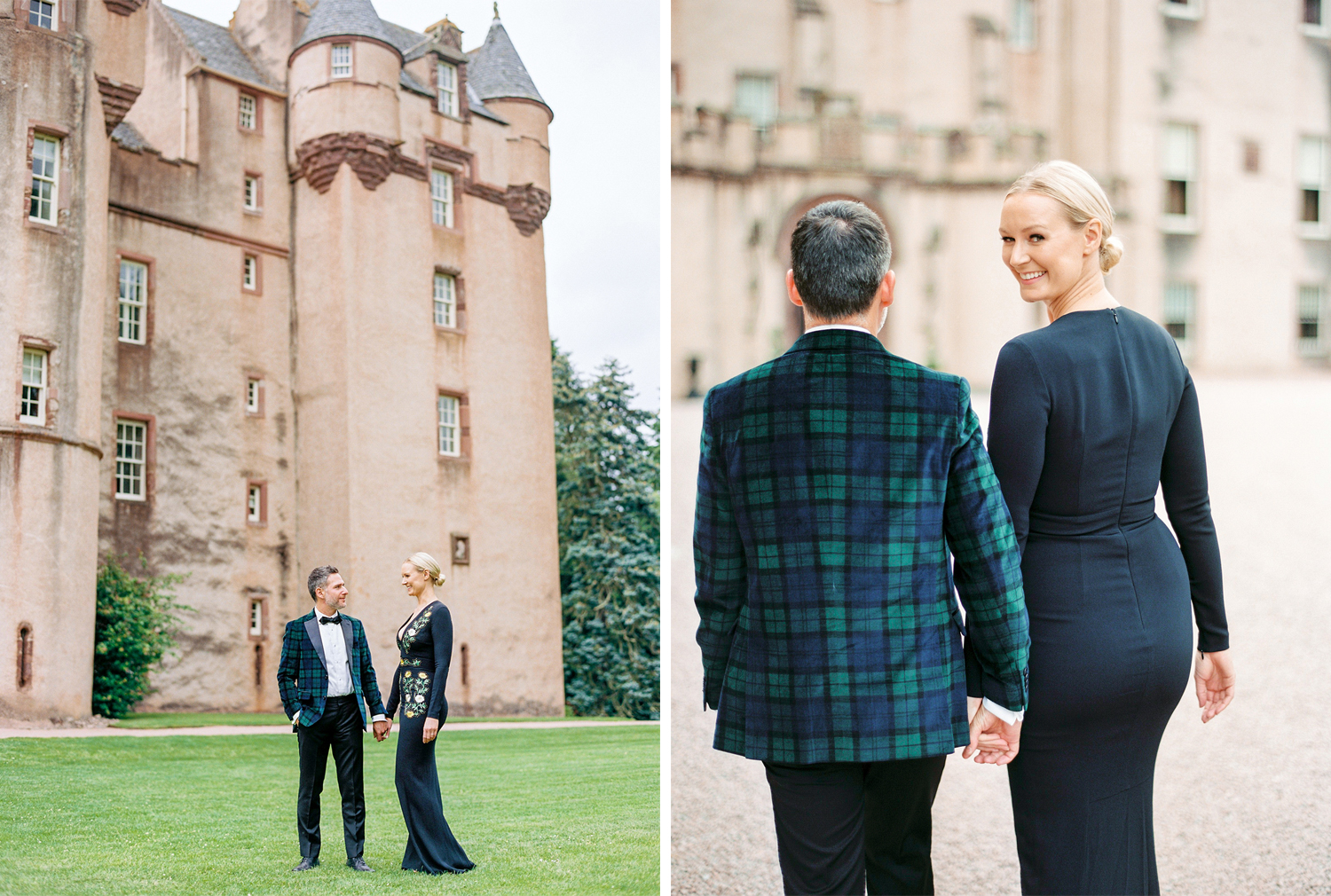 Some portraits of the couple outside the Castle.